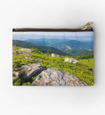 light on stone mountain slope Studio Pouch