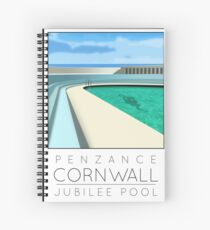 Lido Poster Penzance Jubilee Spiral Notebook
