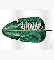 REQUESTED ITEM: customised large name leaf Poster