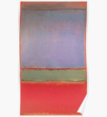 Violet, Green and Red by Rothko Poster