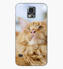 Red-white tabby Maine Coon cat Case/Skin for Samsung Galaxy