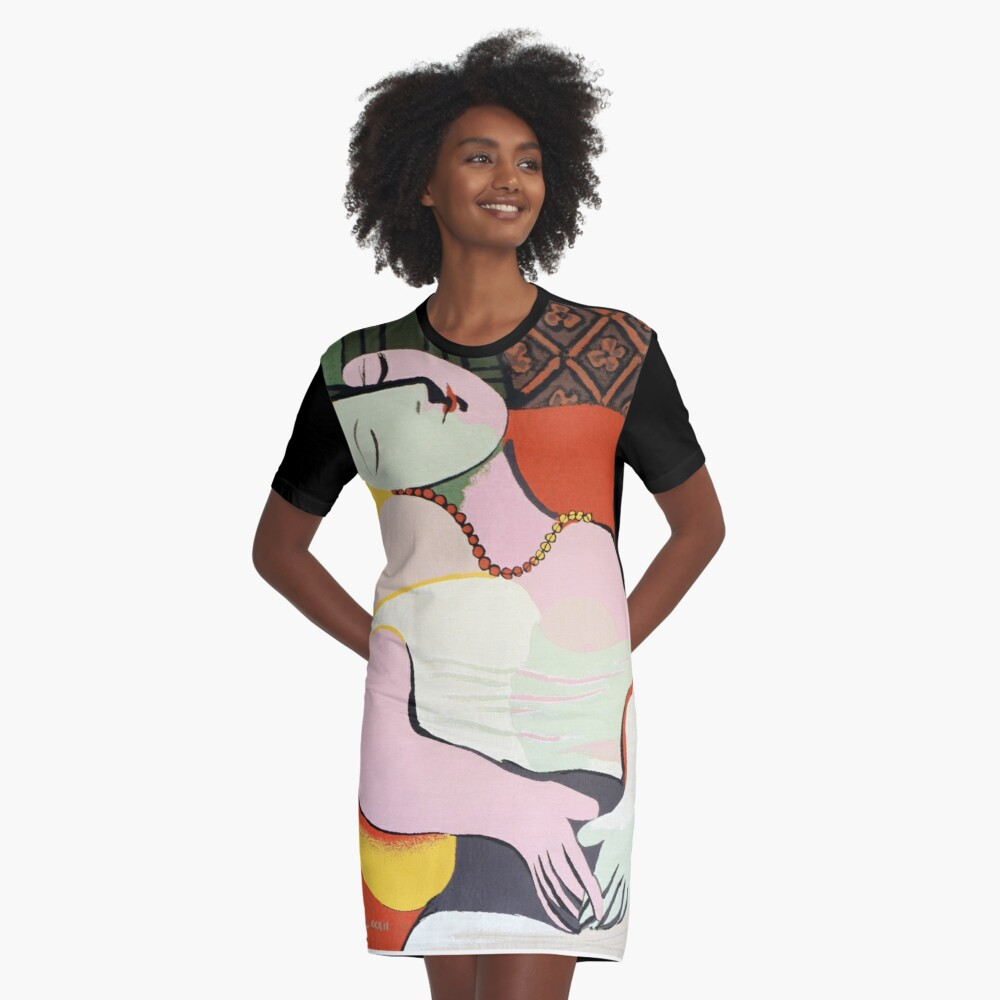 "Le Rêve ( ""The Dream"")- Pablo Picasso Graphic T-Shirt Dress"