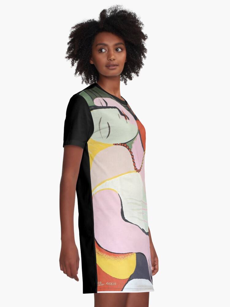 "Alternate view of Le Rêve ( ""The Dream"")- Pablo Picasso Graphic T-Shirt Dress"
