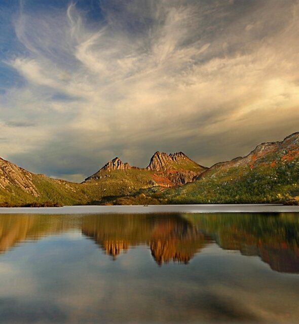 Afternoon light,  Dove Lake by Kevin McGennan