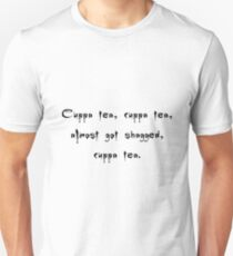 Spike to Giles Cuppa Tea Nearly Got Shagged - Buffy the Vampire Slayer Quote, BtVS, 90s, Joss Whedon T-Shirt