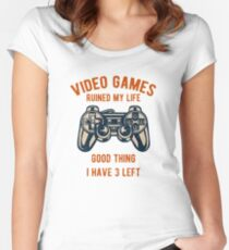 Video Games / Video Gamers Women's Fitted Scoop T-Shirt
