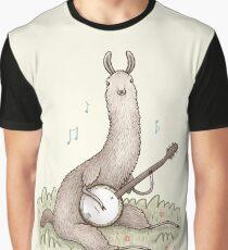 Banjo Llama Graphic T-Shirt