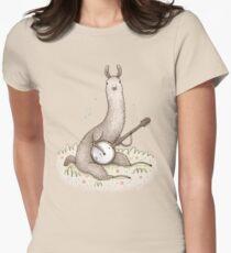 Banjo Llama Women's Fitted T-Shirt