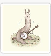Banjo Llama Sticker