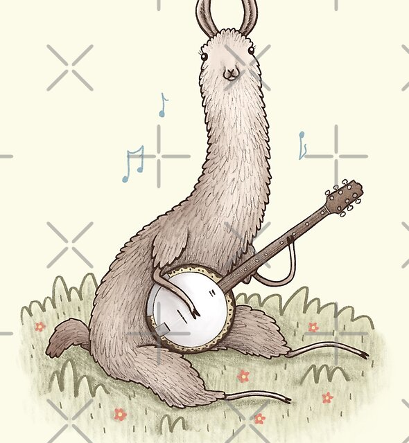 Banjo Llama by Sophie Corrigan