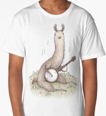 Banjo Llama Long T-Shirt