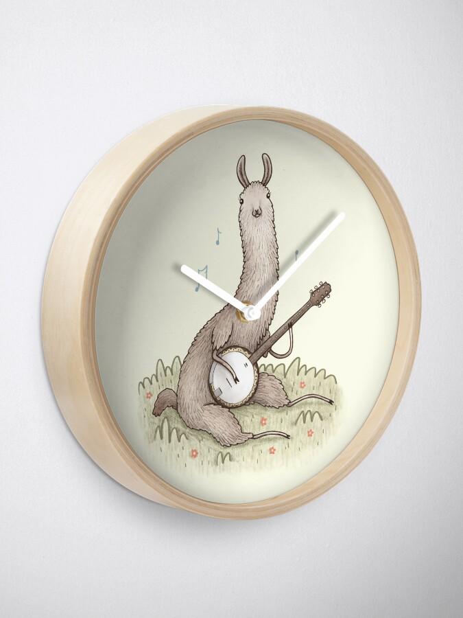 Alternate view of Banjo Llama Clock