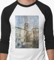 Abstract Lucca Scene Men's Baseball ¾ T-Shirt