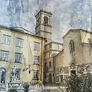 Abstract Lucca Scene by DavidWHughes