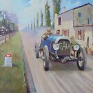 A veteran Italia in the Paris-Rome road race in France in 1905. by Mike Jeffries