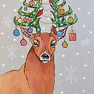 « Cerf Sapin de Noël » par cindybarillet