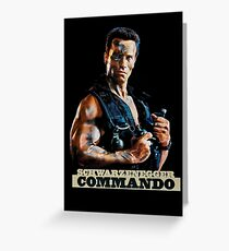 Commando Movie Poster Greeting Card