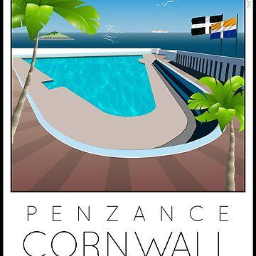 Lido Poster Penzance Jubilee 2 by stevenhouse