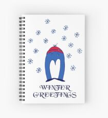Blue Penguin's Winter Greetings Spiral Notebook