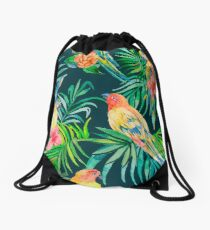 Tropical pattern Drawstring Bag
