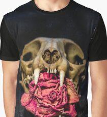 skull and rose Graphic T-Shirt