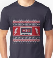 Ugly Christmas Sweater Retro Cassette Tape Unisex T-Shirt
