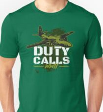 Duty Calls WWII Aircraft Gift  Unisex T-Shirt