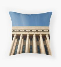Helsinki Finland Parliament building. Throw Pillow