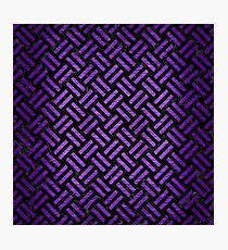 WOVEN2 BLACK MARBLE & PURPLE BRUSHED METAL (R) Photographic Print
