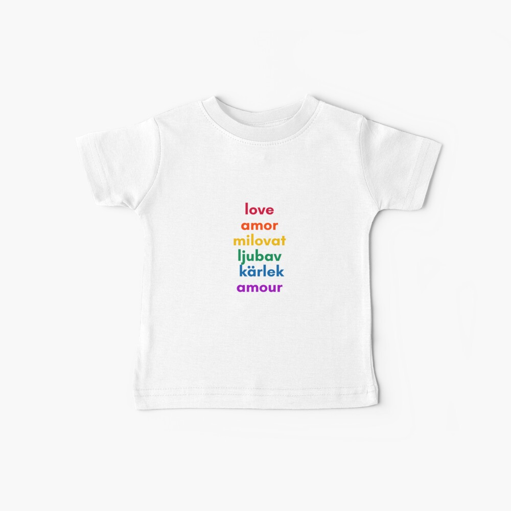 LOVE in 6 Languages Baby T-Shirt