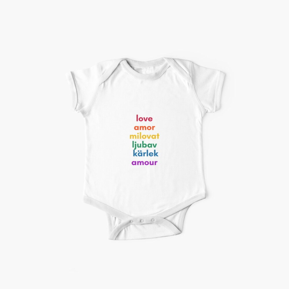 LOVE in 6 Languages Baby One-Pieces