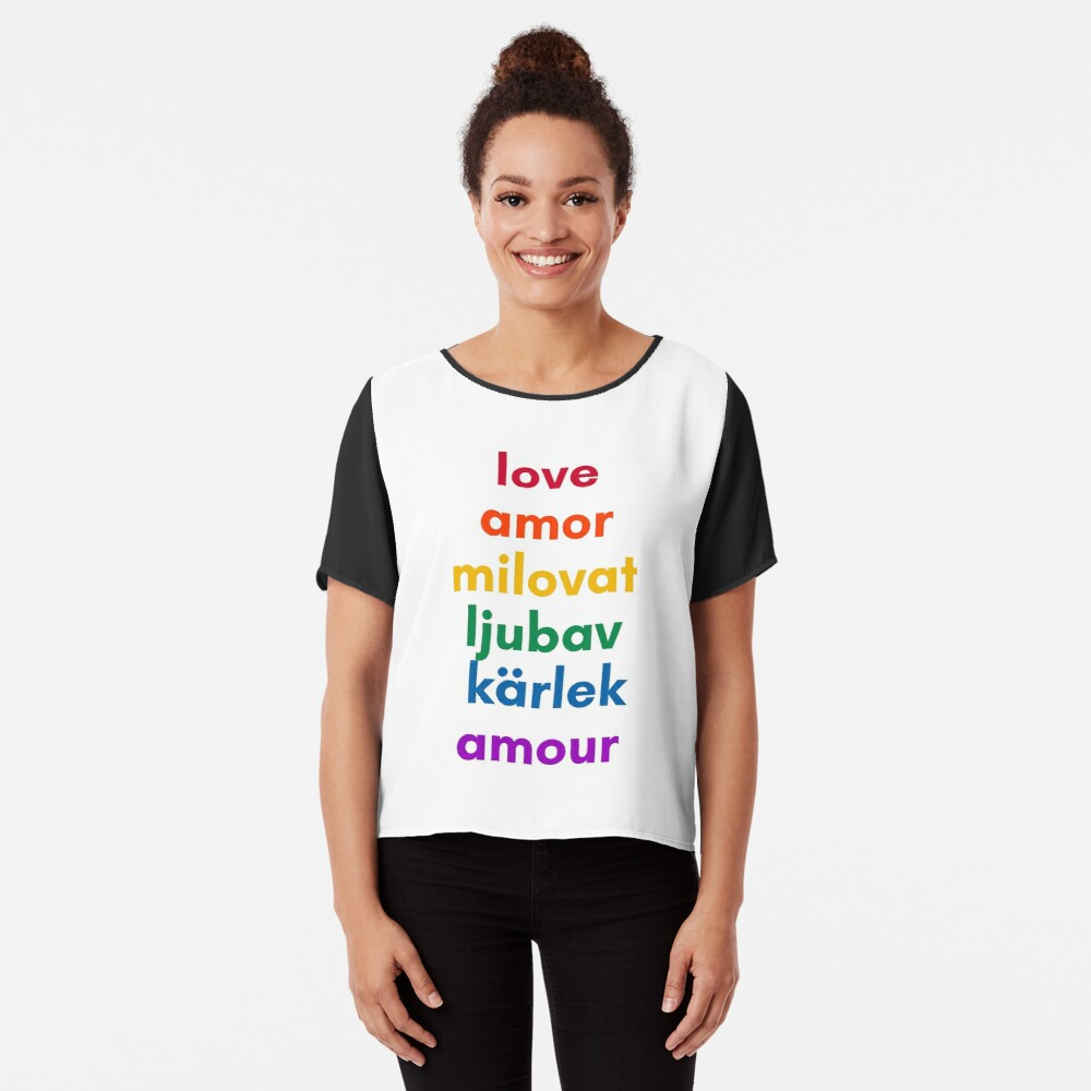 LOVE in 6 Languages Chiffon Top