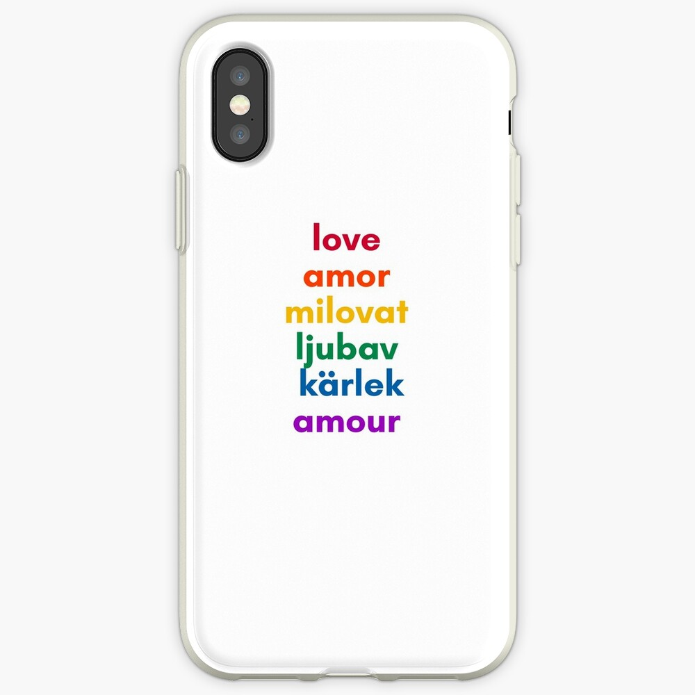 LOVE in 6 Languages iPhone Cases & Covers