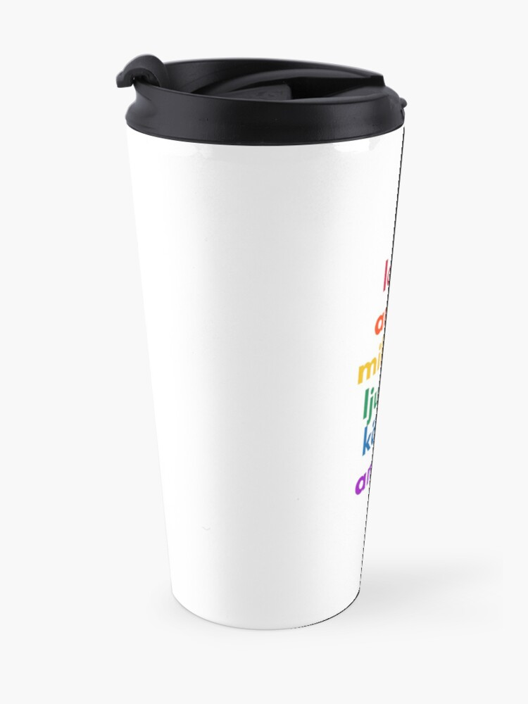 Alternate view of LOVE in 6 Languages Travel Mug