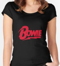 Bowie Logo Women's Fitted Scoop T-Shirt