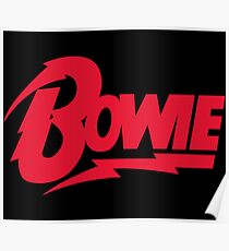 Bowie Logo Poster