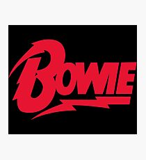 Bowie Logo Photographic Print