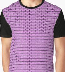 BRICK1 BLACK MARBLE & PURPLE COLORED PENCIL Graphic T-Shirt