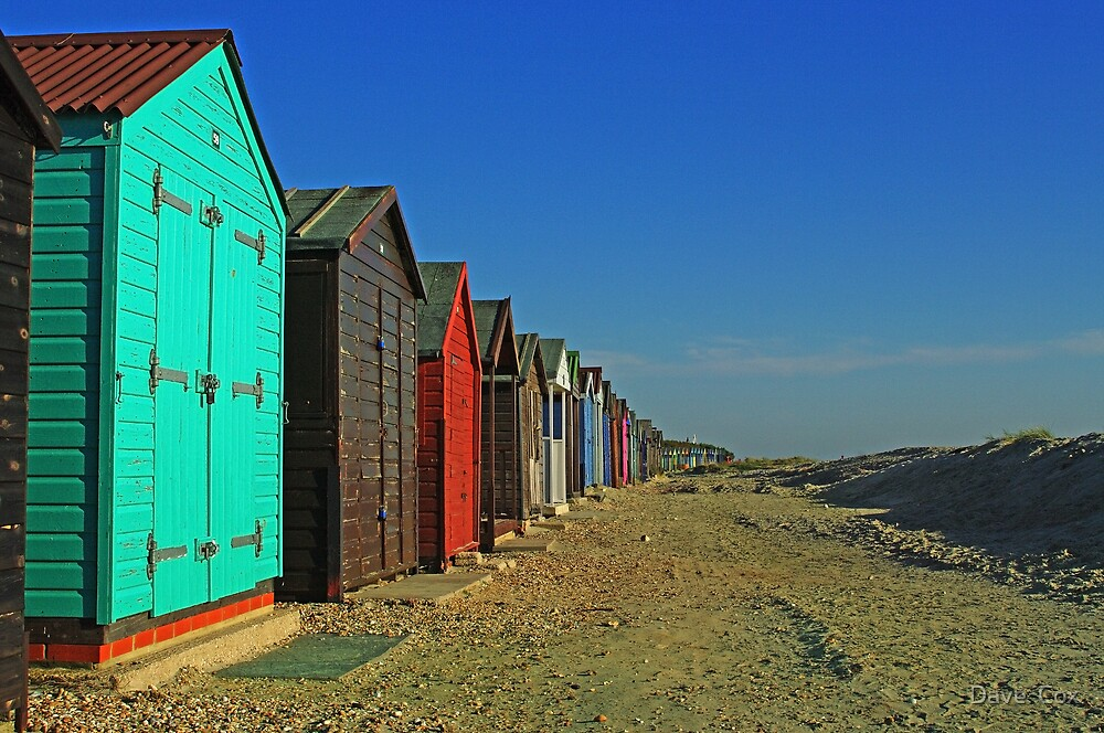 Beach Huts by Dave  Cox
