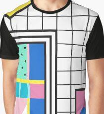 Retro Memphis Colourful Collage  Graphic T-Shirt