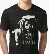 TWD - King Ezekiel: and yet I smile! Tri-blend T-Shirt