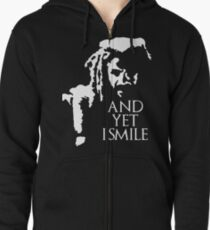 TWD - King Ezekiel: and yet I smile! Zipped Hoodie