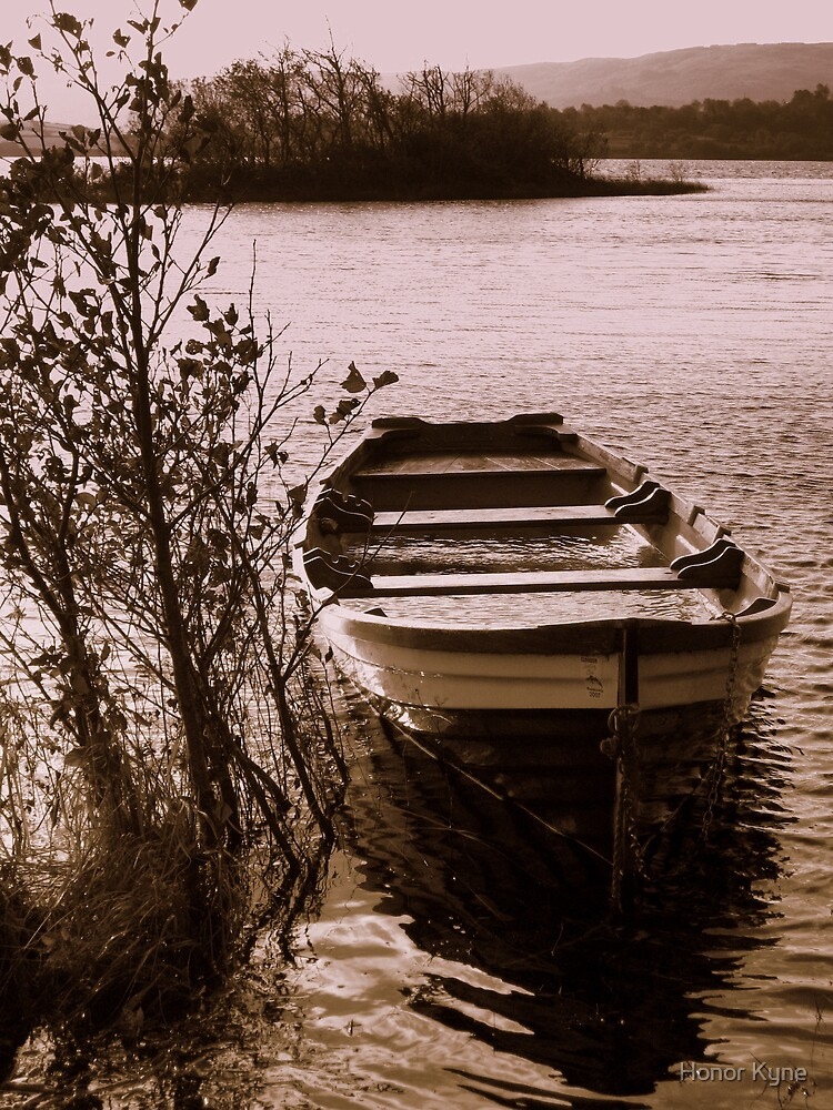 Boat on a Lake by Honor Kyne