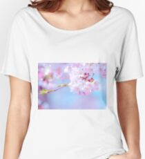 Lens flare and cherry blossoms Women's Relaxed Fit T-Shirt