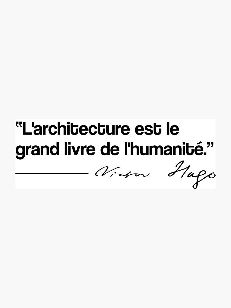 Citation Victor Hugo Architecture Impression Photo