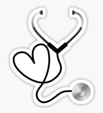 Heart Stethoscope  Sticker