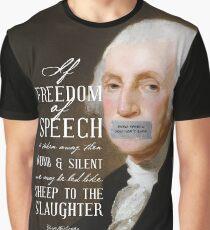 Free Speech Dumb Silent Slaughter George Washington Graphic T-Shirt