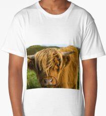 Highland cow on the island of skye Long T-Shirt
