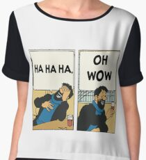Tintin - Captain Haddock - Oh Wow Chiffon Top
