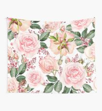 Romantic Watercolor Flower Pattern Wall Tapestry